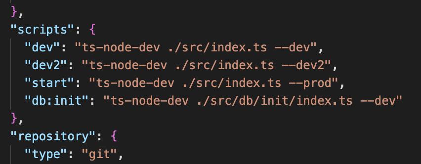 package.json 에 NPM 명령어를 설정하는 내용